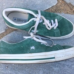 Converse Shoes - Green Converse One Stars, size 8